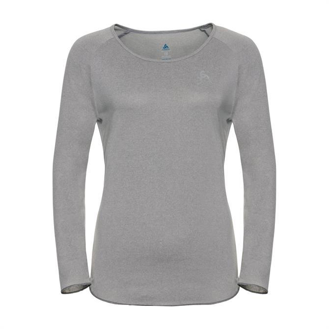Odlo Women's Helle Long Sleeve Fitness T-Shirt- Grey Melange