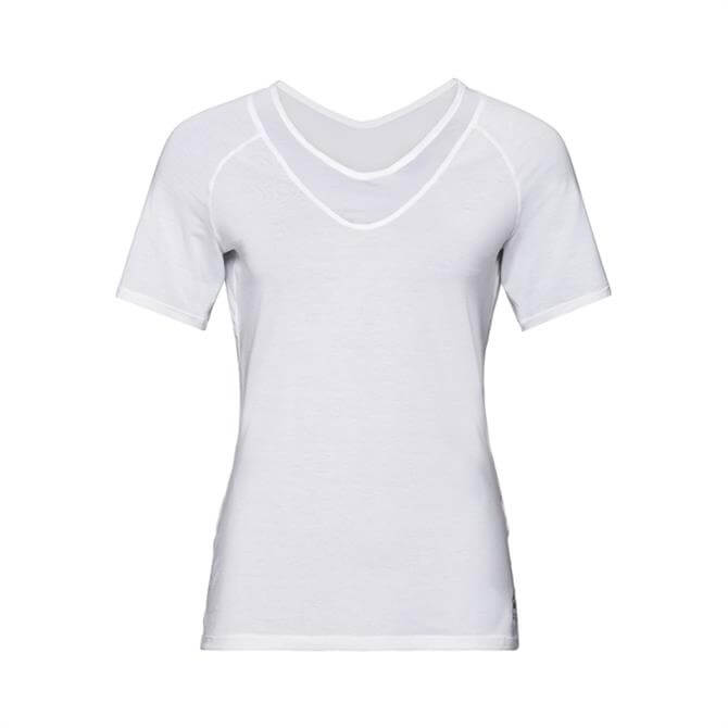 Odlo Women's Lou Mesh BL Short Sleeve Fitness Top - White