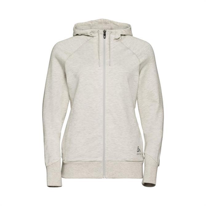 Odlo Women's Alma Natural Full Zip Hoodie - Light Grey