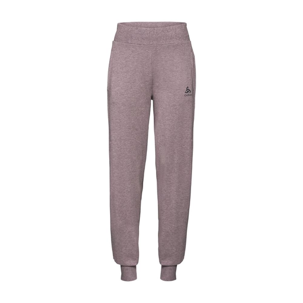 An image of Odlo Women's Alma Natural Sweatpants - Quail Melange - S, QUAIL MELANGE