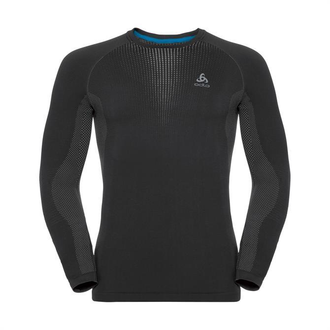 Odlo Men's Winter Performance Long Sleeve Base Layer Top- Black