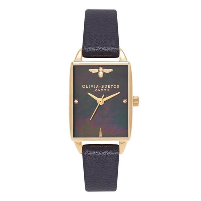 Olivia Burton Beehive Black Mother of Pearl Watch