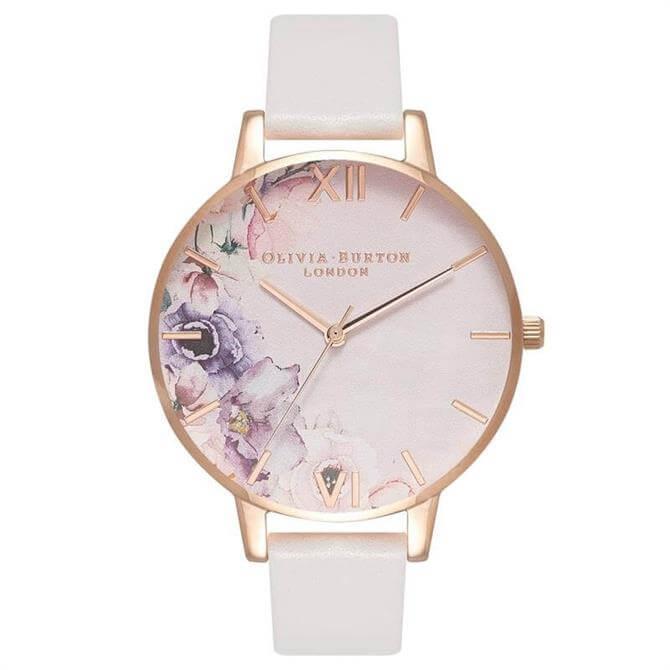 Olivia Burton Watercolour Florals Blush & Rose Gold Watch