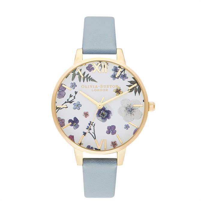 Olivia Burton Artisan Vegan Chalk Blue & Pale Gold Watch