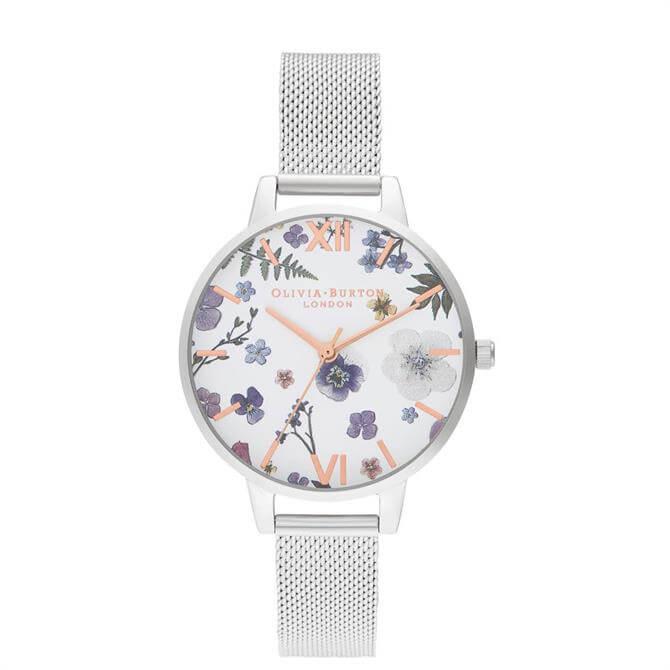 Olivia Burton Artisan Rose Gold & Silver Mesh Watch