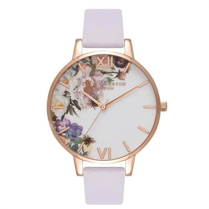 Olivia Burton Enchanted Garden Parma Violet & Rose Gold Watch