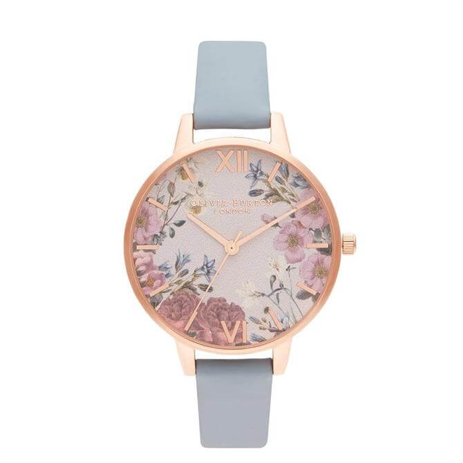 Olivia Burton British Blooms Chalk Blue & Rose Gold Watch