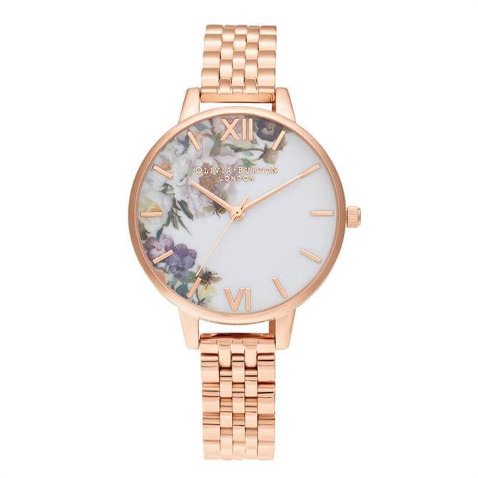 Olivia Burton Enchanted Garden Demi Rose Gold Bracelet Watch