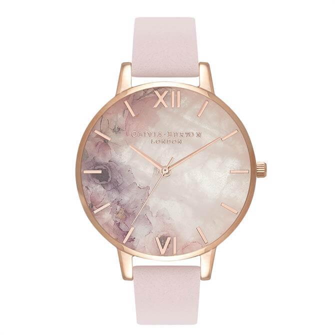 Olivia Burton Semi Precious Blossom & Rose Gold Watch