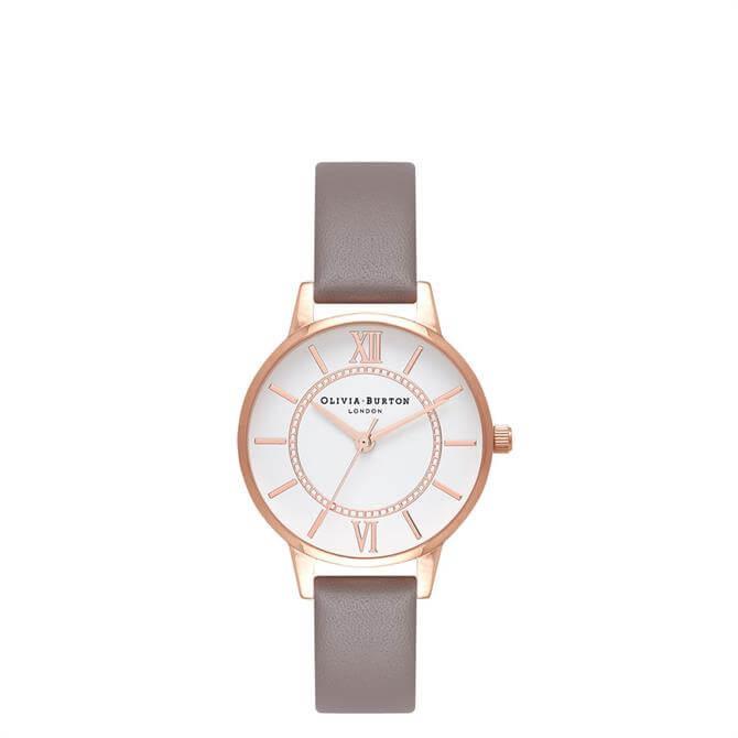 Olivia Burton Wonderland London Grey & Rose Gold Watch