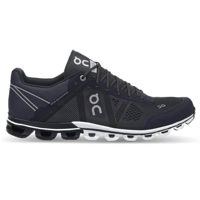 On Cloudflow Men's Running Shoe- Black/Asphalt