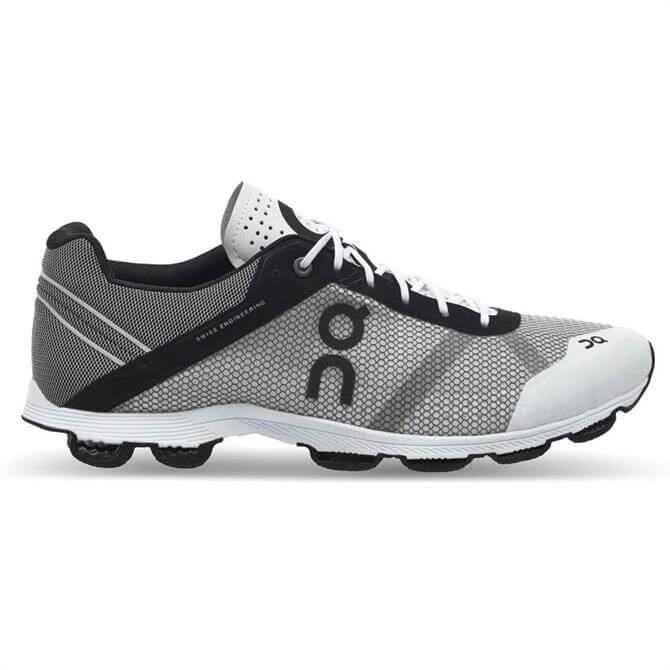 On Cloudrush Men's Running Shoe-Black/White