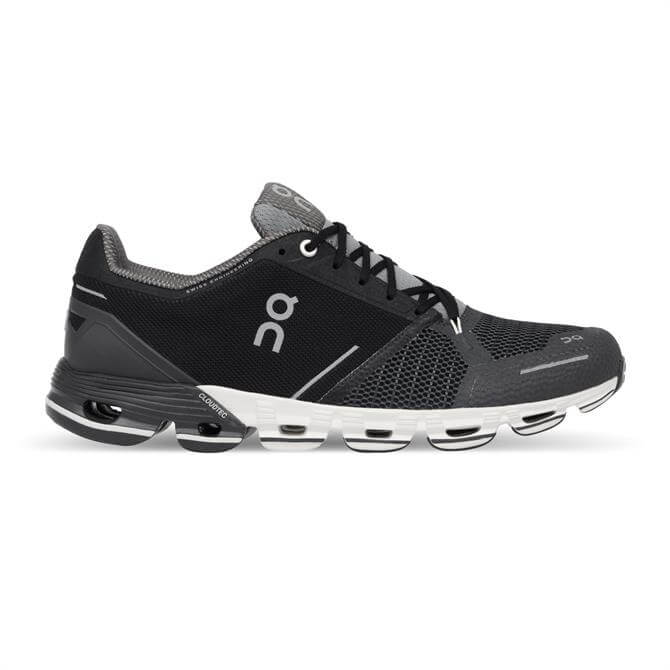 On Running Men's Cloudflyer Running Shoe- Black/White