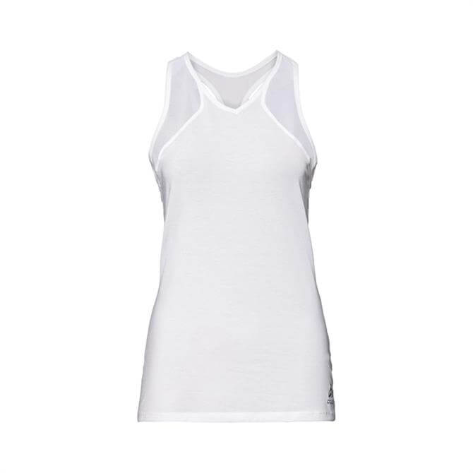 Odlo Women's Lou Mesh BL V-Neck Singlet Top - White
