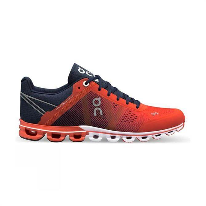 On Women's Cloudflow Running Shoe - Crimson/Midnight