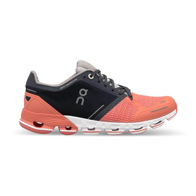 On Running Women's Cloudflyer Running Shoes- Salmon/Ink
