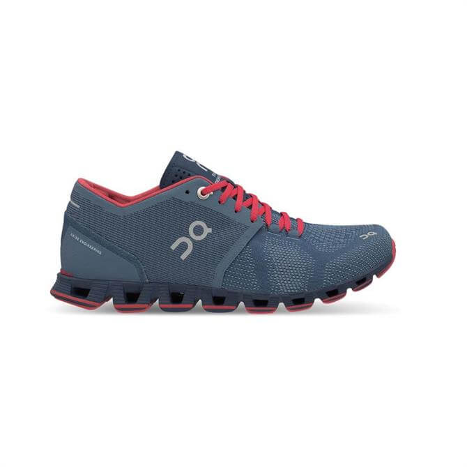 On Women's CloudX Running Shoes 18- Lake/Coral