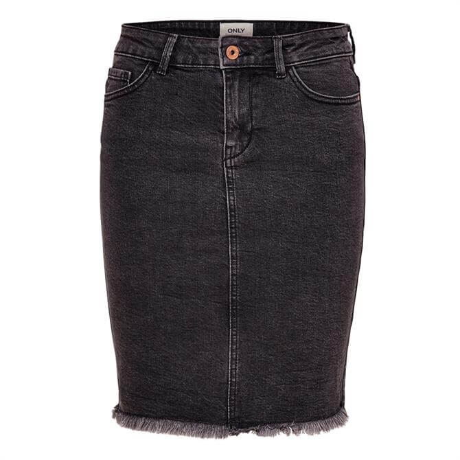 Only Eliza Raw Edge Denim Skirt