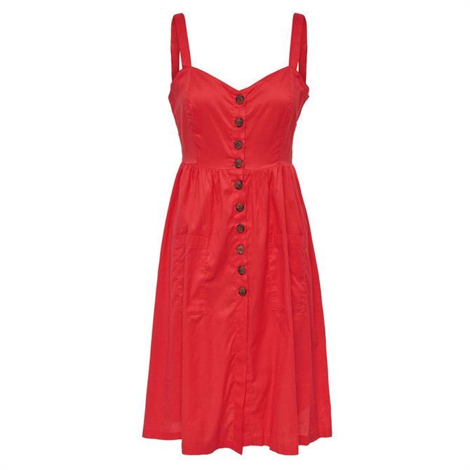 Only Frida Button Sleeveless Dress