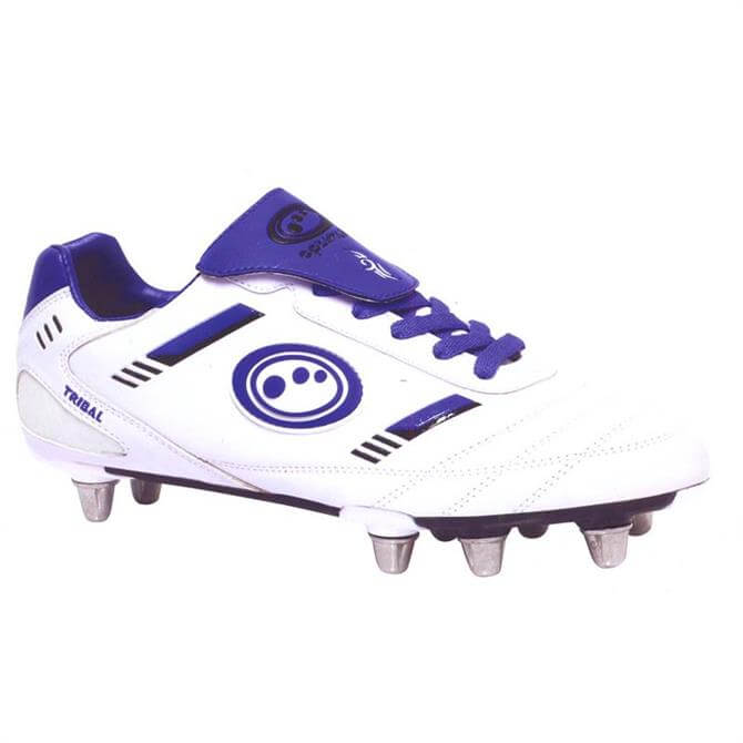 Optimum Men's Tribal Rugby Boot White Blue