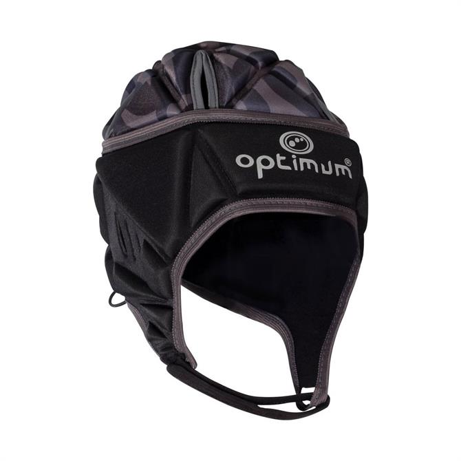 Optimum Junior Razor Rugby Headguard- Black/Silver