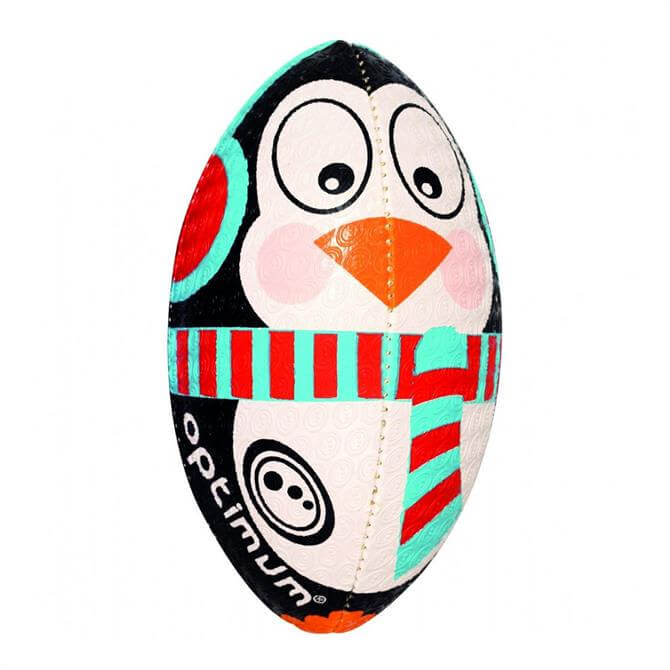 Optimum Christmas Penguin Rugby Ball
