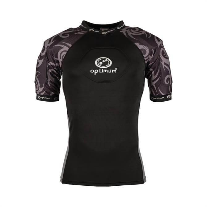 Optimum Men's Razor Rugby Top-Black/Silver
