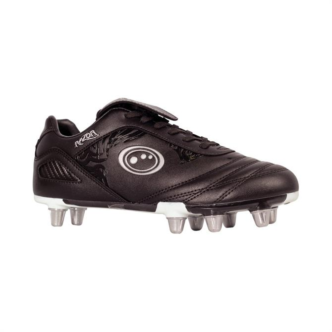 Optimum Razor Mens Rugby Boots- Black/Silver