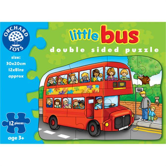 Orchard Little Bus Double Sided Puzzle