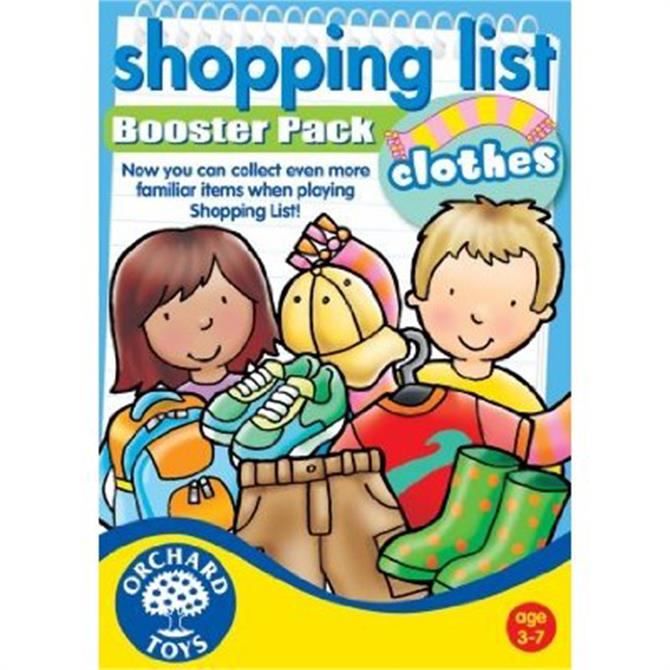 Orchard Toys Shop List Booster Pack Clothing