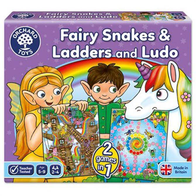 Orchard Toys Fairy Snakes and Ladders and Ludo