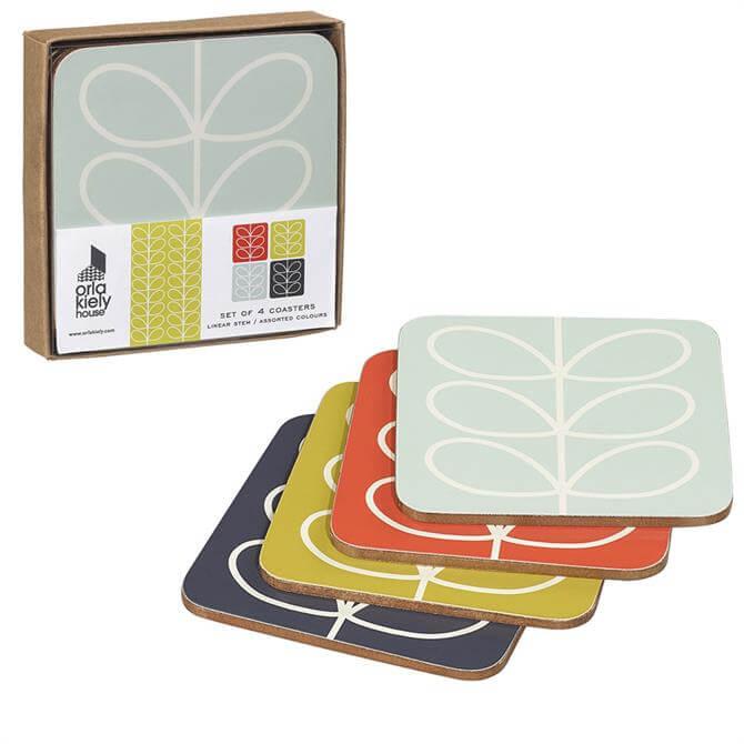 Orla Kiely Linear Stem Coasters: Set Of 4