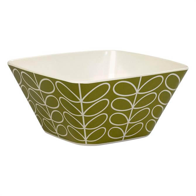 Orla Kiely Bamboo Linear Stem Salad Bowl: Seagrass