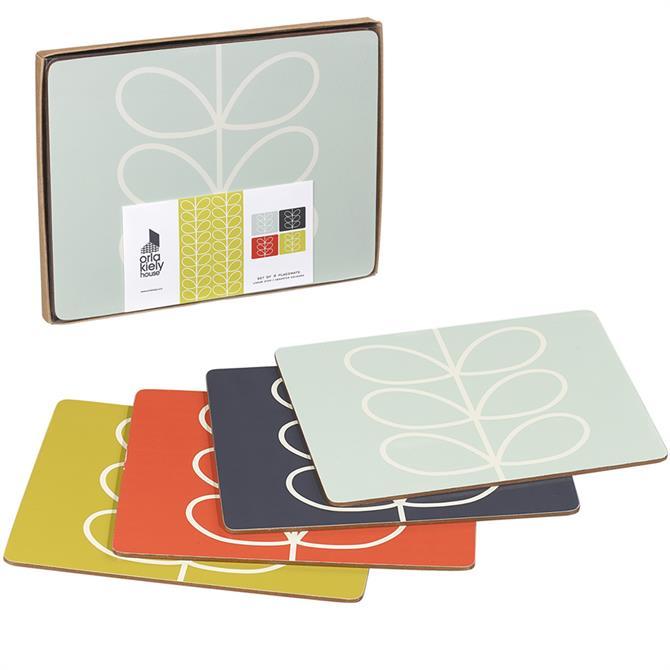 Orla Kiely Linear Stem Placemats: Set Of 4