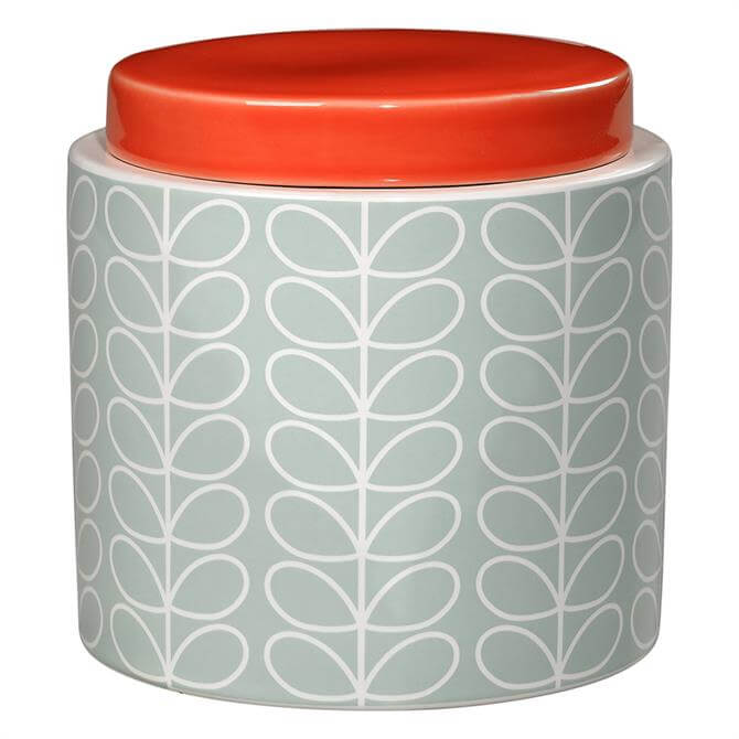 Orla Kiely Linear Stem Storage Jar: 1 Litre