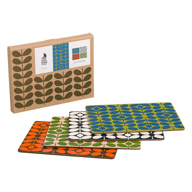 Orla Kiely 60s Stem Set of 4 Placemats