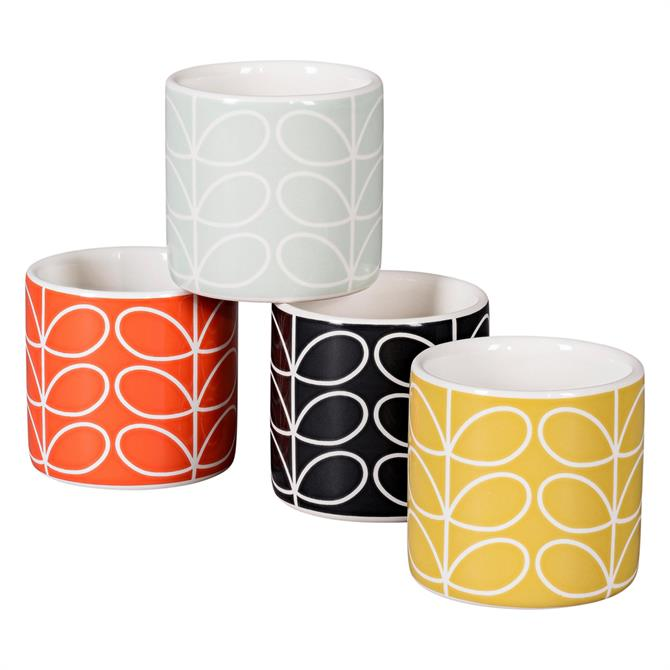 Orla Kiely Linear Stem Set of 4 Egg Cups