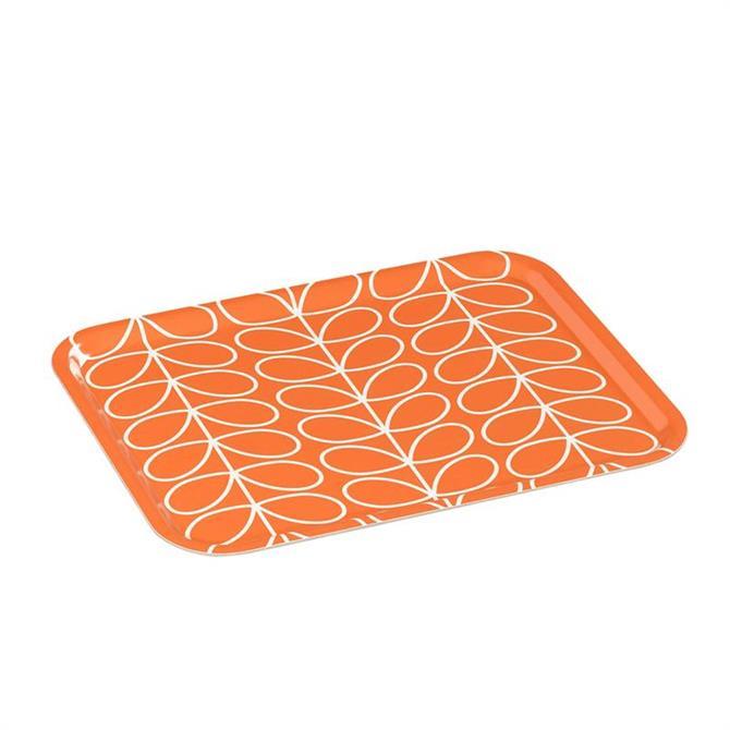 Orla Kiely Linear Stem Persimmon Large Tray