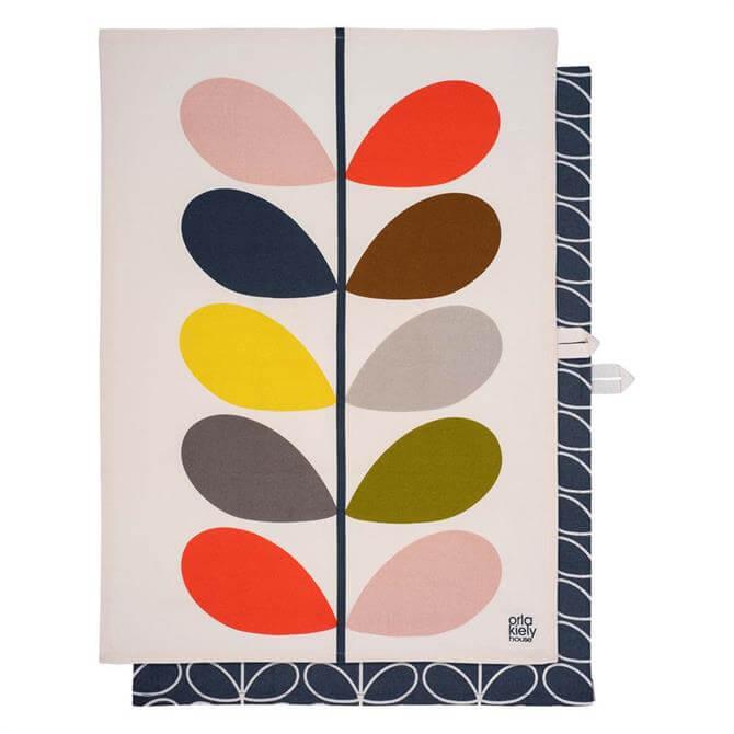 Orla Kiely Multi Stem Slate Set of 2 Tea Towels