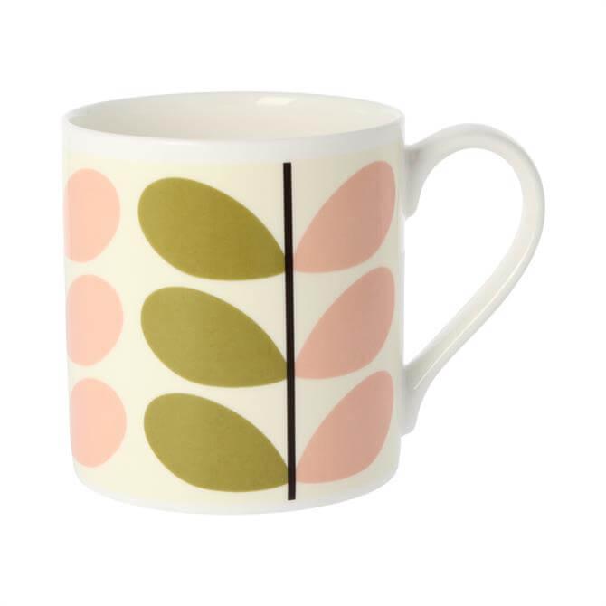 Orla Kiely Olive/Pink Stem Mug