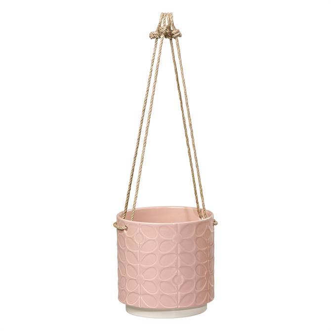 Orla Kiely Medium Ceramic Hanging Pot 60s Stem, Rose