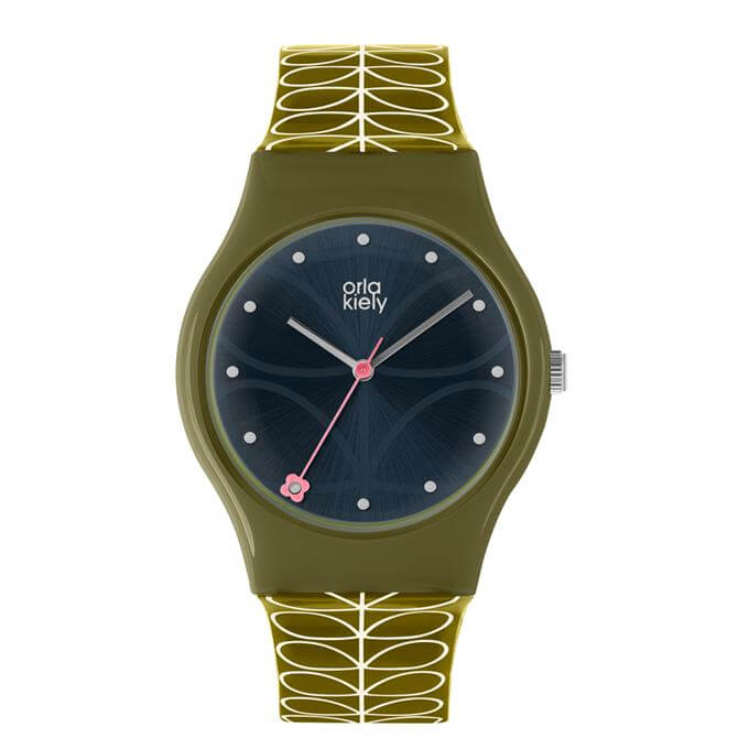 Orla Kiely Green & Navy Bobby Watch