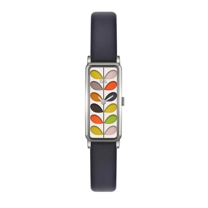 Orla Kiely Rectangular Multicolour Stem Print Dial Watch