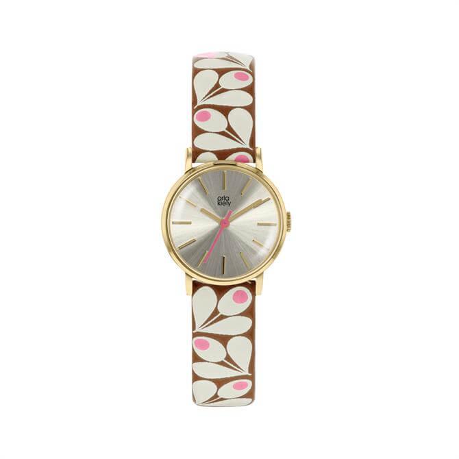 Orla Kiely Patricia Tan/Pink Watch
