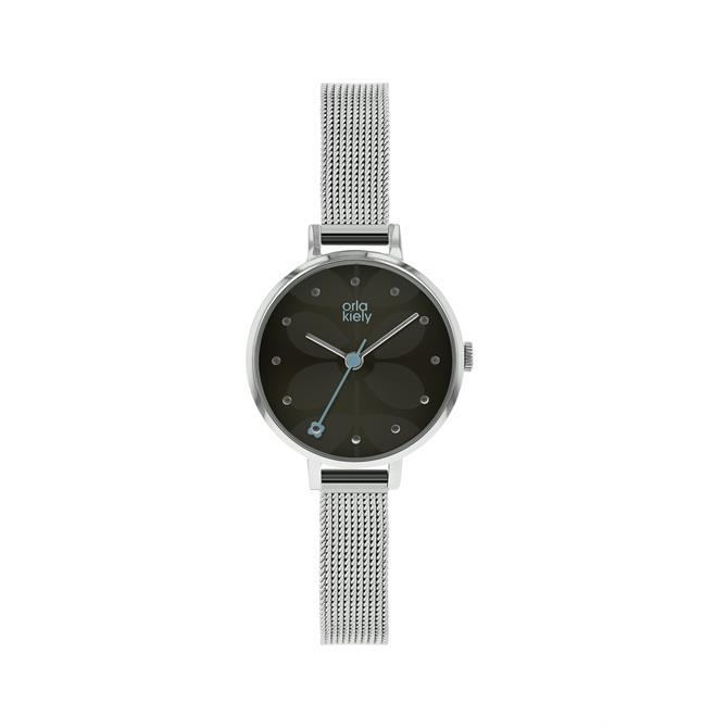 Orla Kiely Black Ivy Mesh Watch