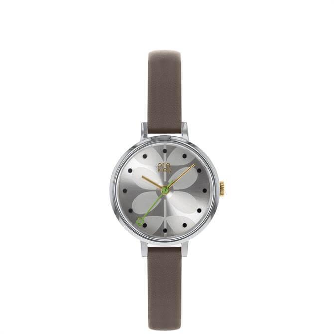 Orla Kiely Ivy Watch with Warm Grey Strap