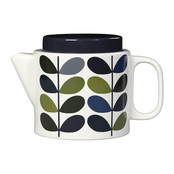 Orla Kiely Ink Multi Stem Teapot: Khaki Marine
