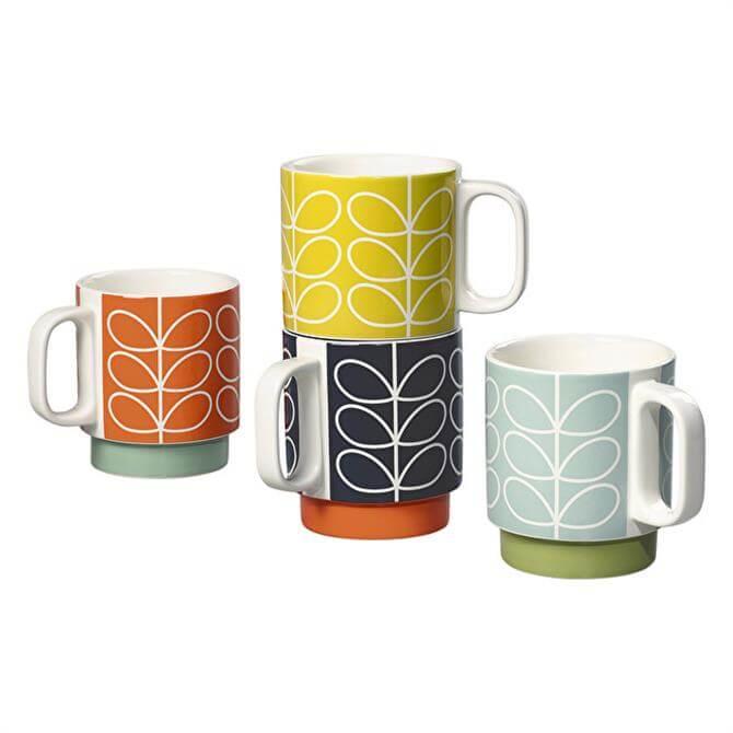 Orla Kiely Stacking Mug Set - Linear Stem