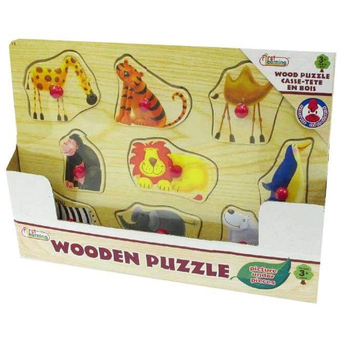 First Learning 12 Piece Wooden Puzzle