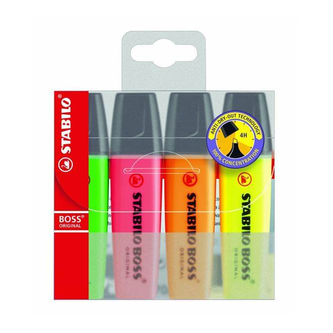 Stabilo Boss Highlighters Pack of 4